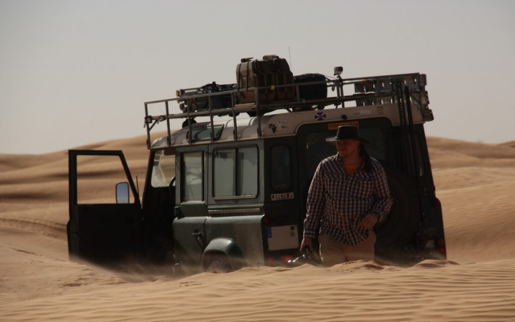 During a desert trip in the Sahara in the south of Tunisia