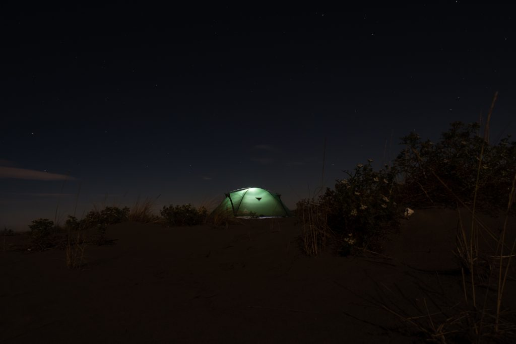 My tent on a remote beach in Albania