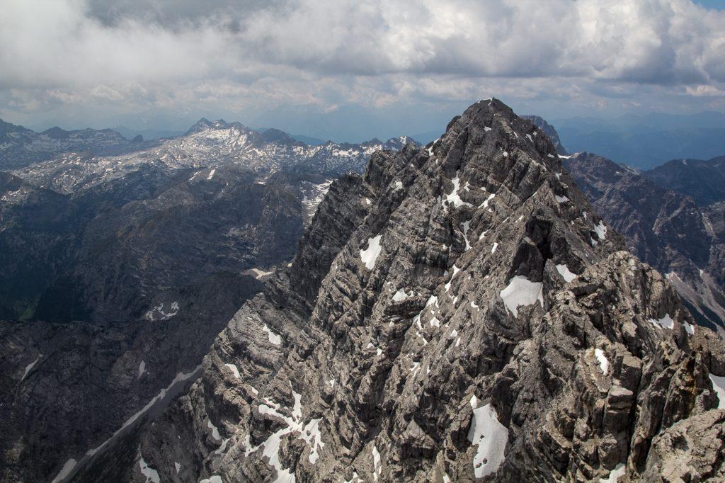 The Watzmann ridge with the South Peak  (2713m)